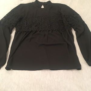 Black shirt with lace from Express